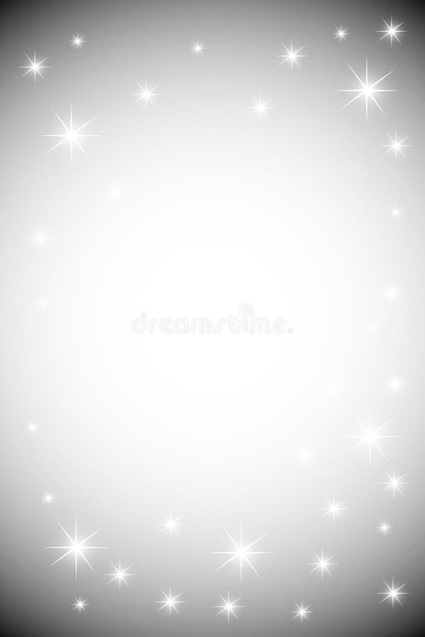 Z błyszczącymi gwiazdami kruszcowy tło ilustracja wektor