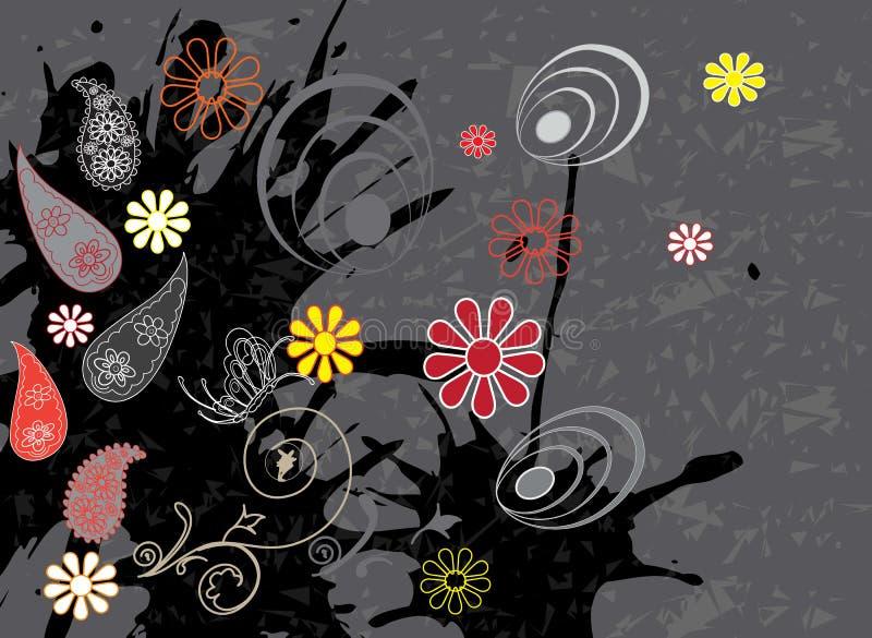 Z barwionymi liść bezszwowy wzór zdjęcie royalty free