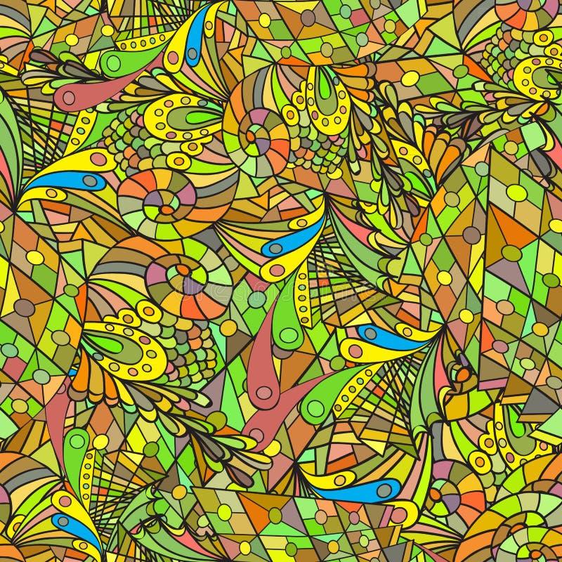 Z barwionymi liść bezszwowy wzór zdjęcia royalty free