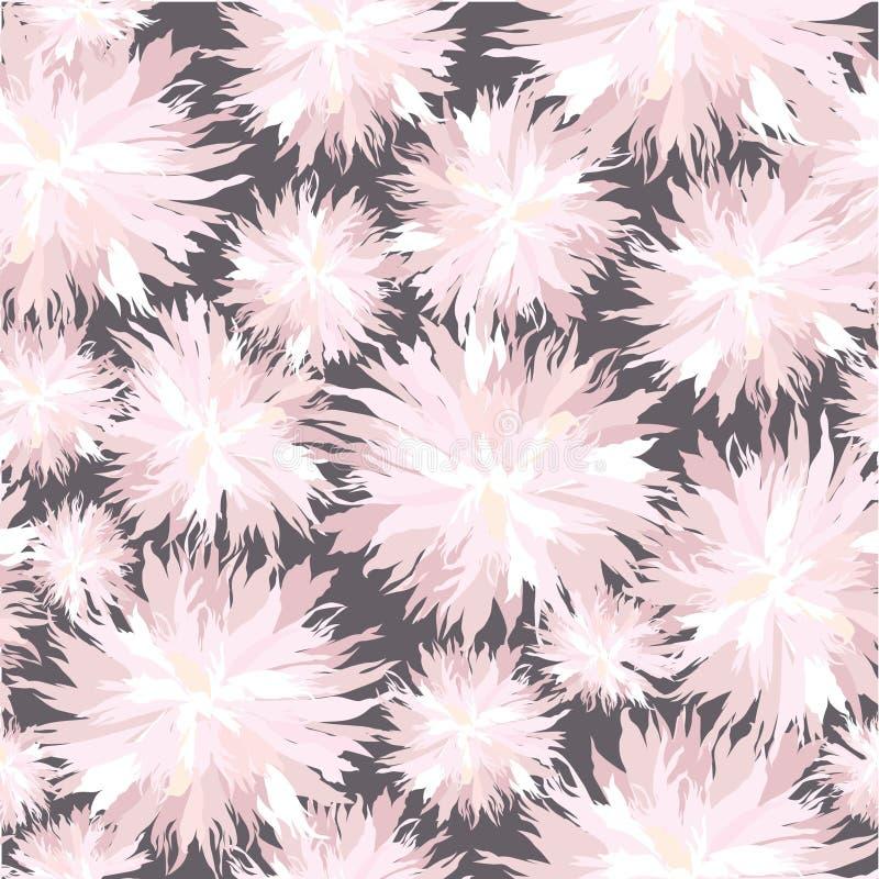 Z biały kwiatami bezszwowa tekstura royalty ilustracja