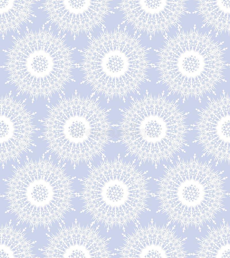 Z biały płatek śniegu bezszwowa tekstura royalty ilustracja