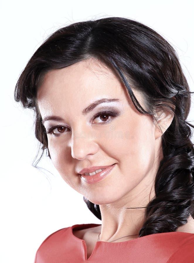 z bliska portret młoda kobieta z dziennym makeup fotografia royalty free