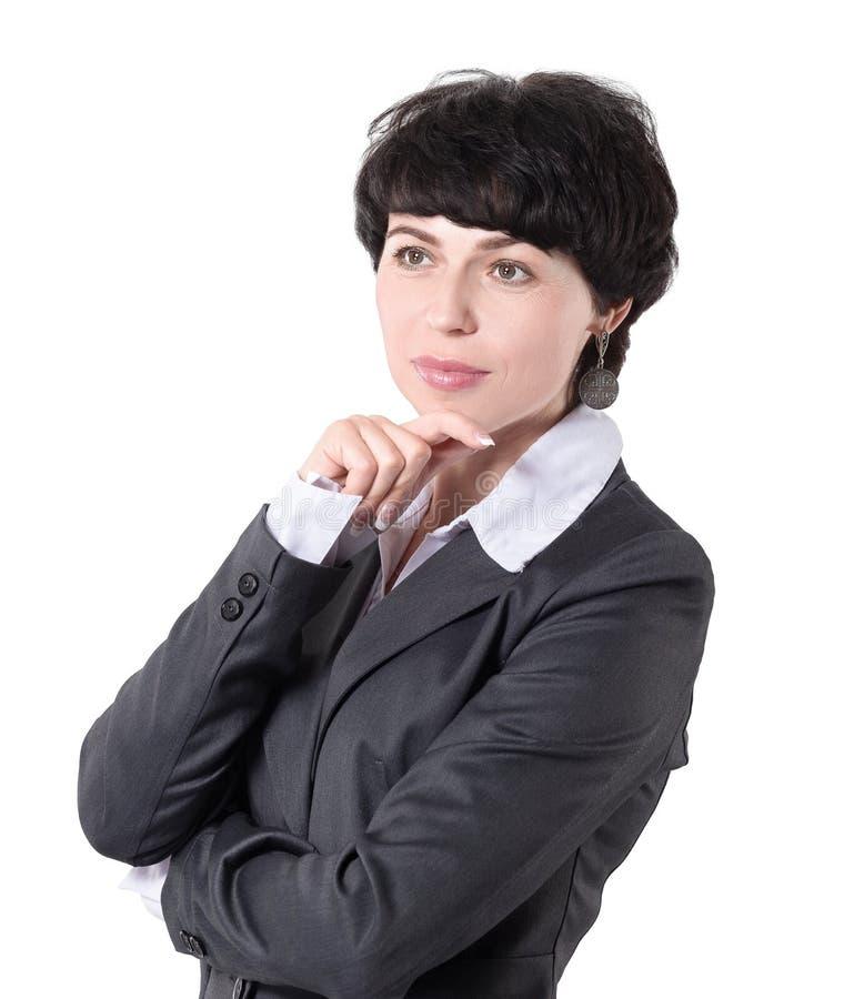 z bliska portret młoda rozważna biznesowa kobieta obraz royalty free