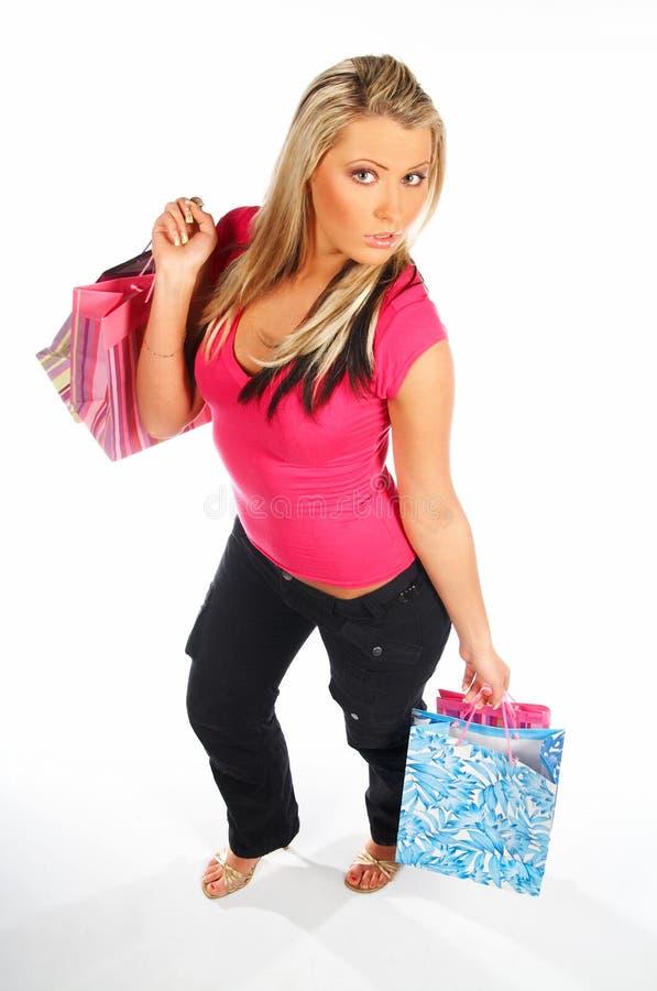 z blond zakupy kobiety zdjęcie stock