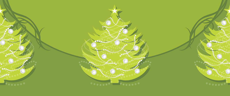 Z Bożenarodzeniowym jedlinowym drzewem zieleni dekoracyjna granica ilustracja wektor