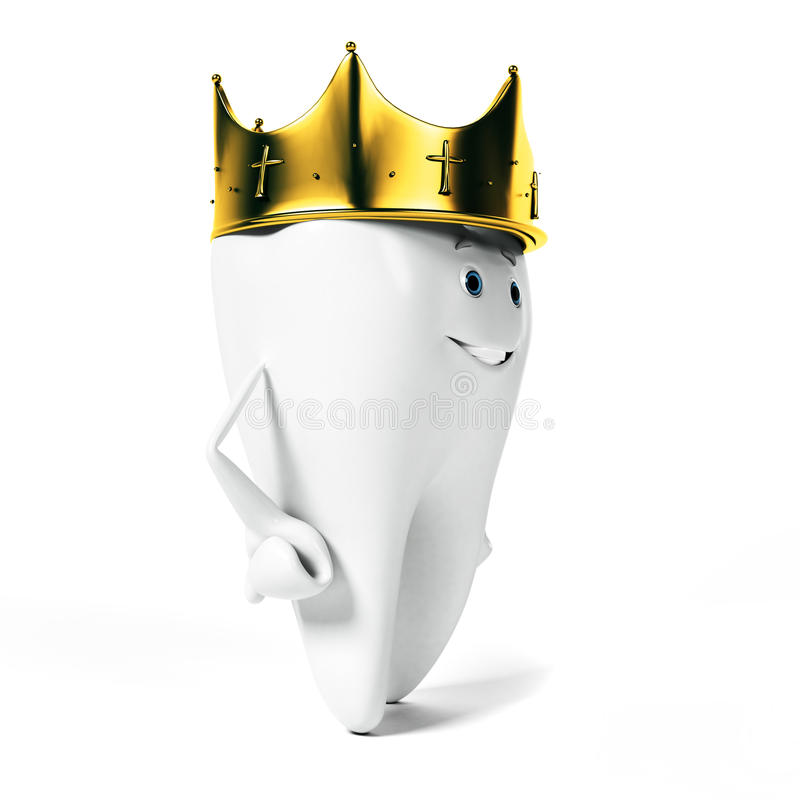 Download Zębu charakter ilustracji. Ilustracja złożonej z korzeń - 28962648