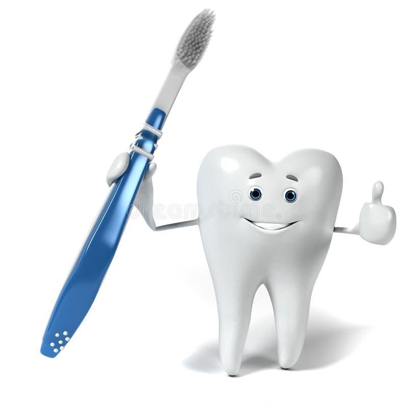 Download Zębu charakter ilustracji. Ilustracja złożonej z toothache - 28962649