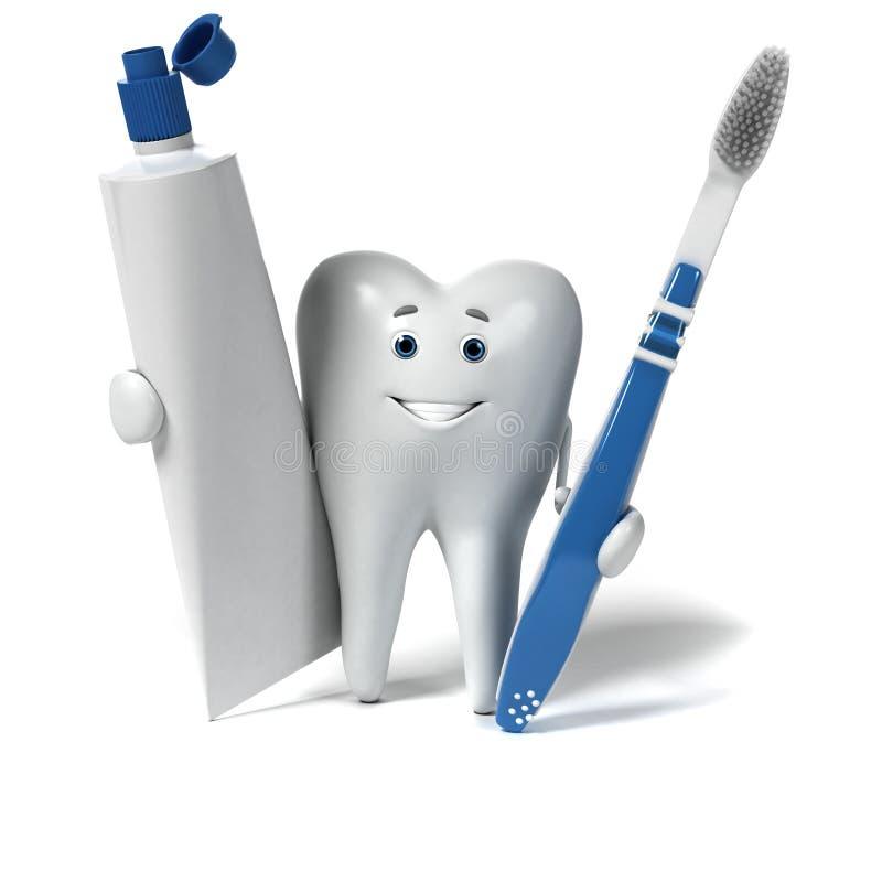 Download Zębu charakter ilustracji. Ilustracja złożonej z ilustracje - 28962650