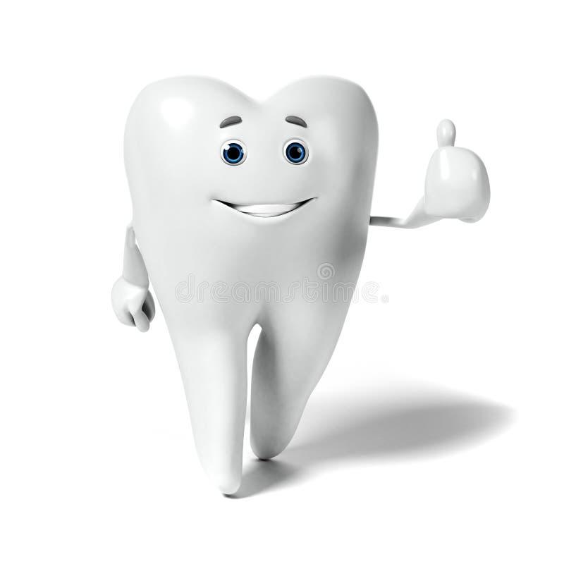 Download Zębu charakter ilustracji. Ilustracja złożonej z opieka - 28962662