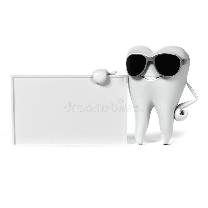 Download Zębu charakter ilustracji. Ilustracja złożonej z kopiasty - 28962664