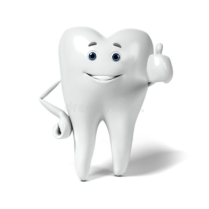 Download Zębu charakter ilustracji. Ilustracja złożonej z korzeń - 28962667