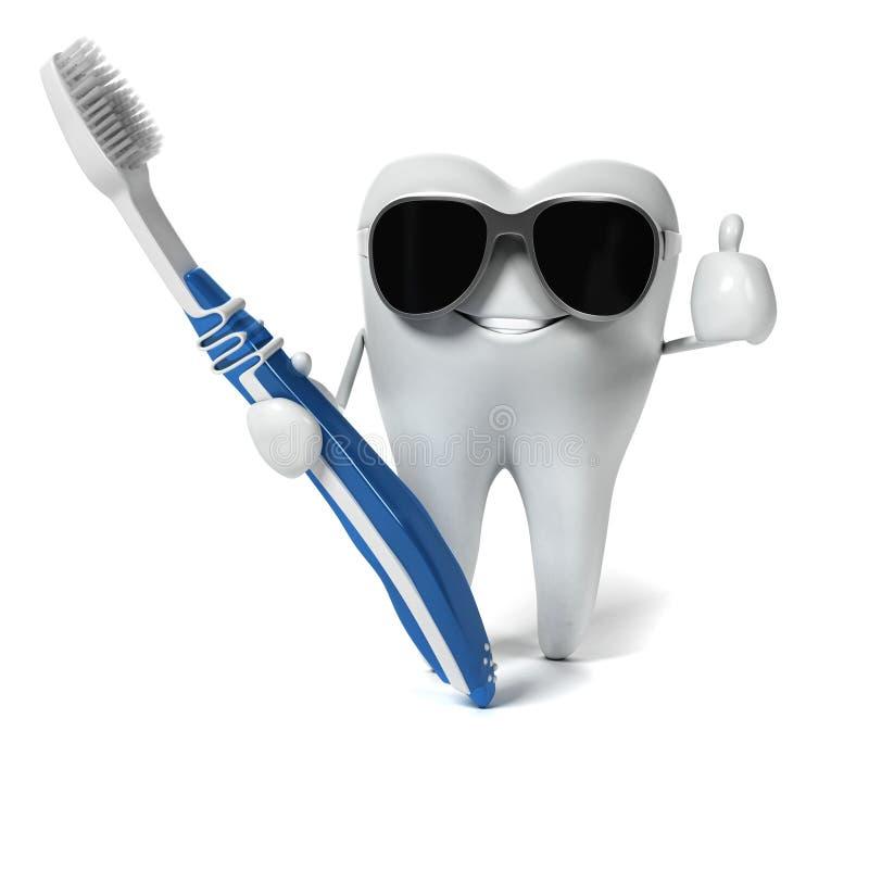 Download Zębu charakter ilustracji. Ilustracja złożonej z korzeń - 28962669
