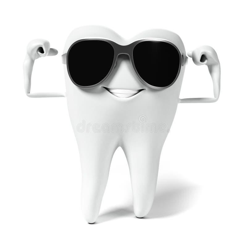 Download Zębu charakter ilustracji. Ilustracja złożonej z kopiasty - 28962671