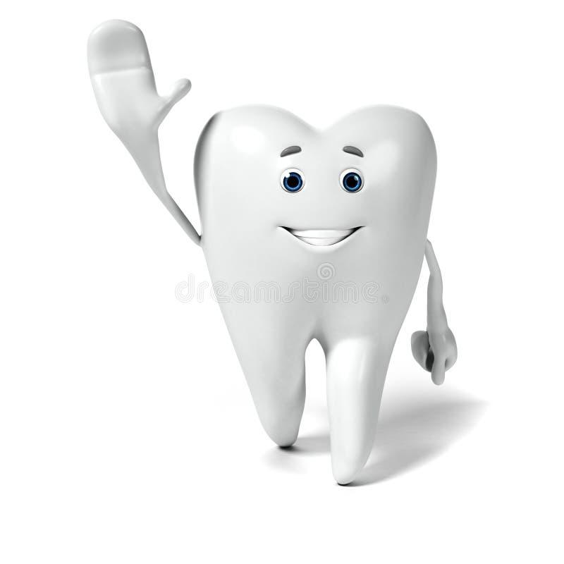 Download Zębu charakter ilustracji. Ilustracja złożonej z odosobniony - 28962682