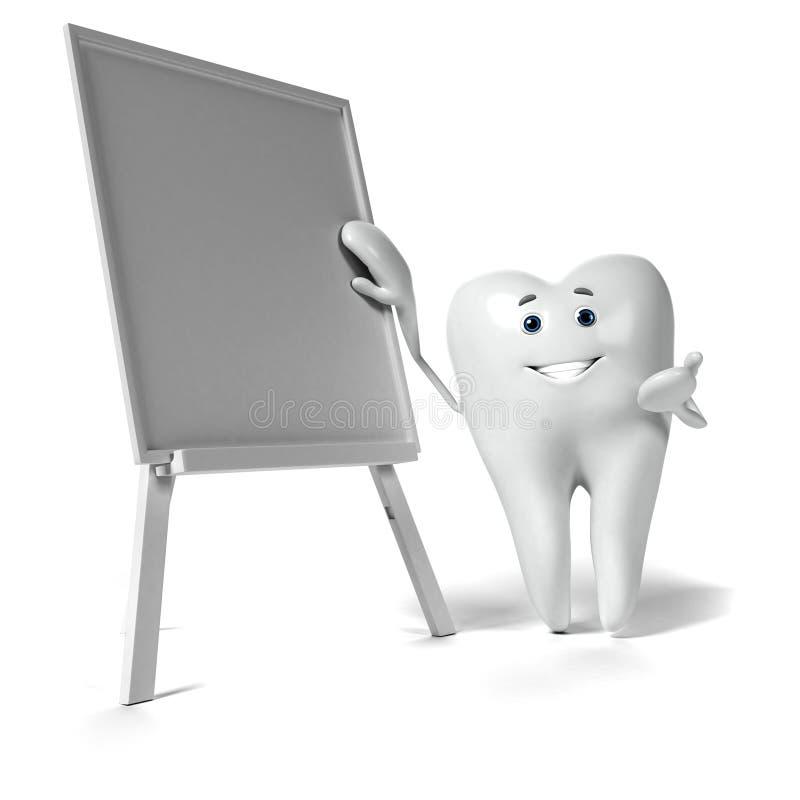 Download Zębu charakter ilustracji. Ilustracja złożonej z rendered - 28962687