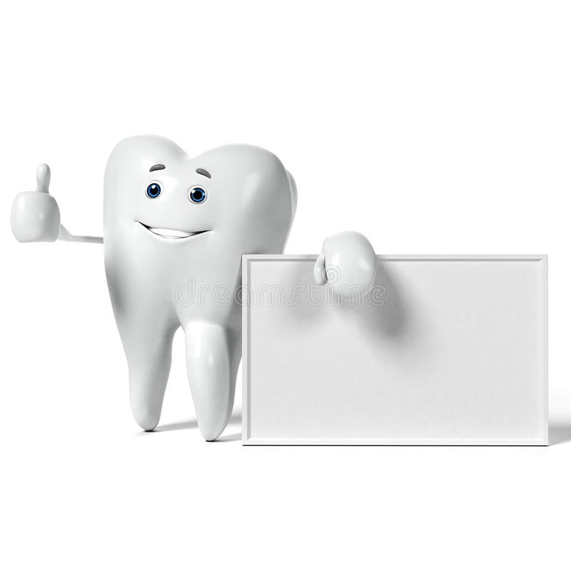 Download Zębu charakter ilustracji. Ilustracja złożonej z odosobniony - 28962706