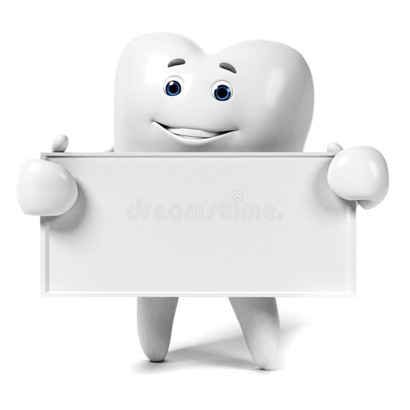 Download Zębu charakter ilustracji. Ilustracja złożonej z blank - 28962708
