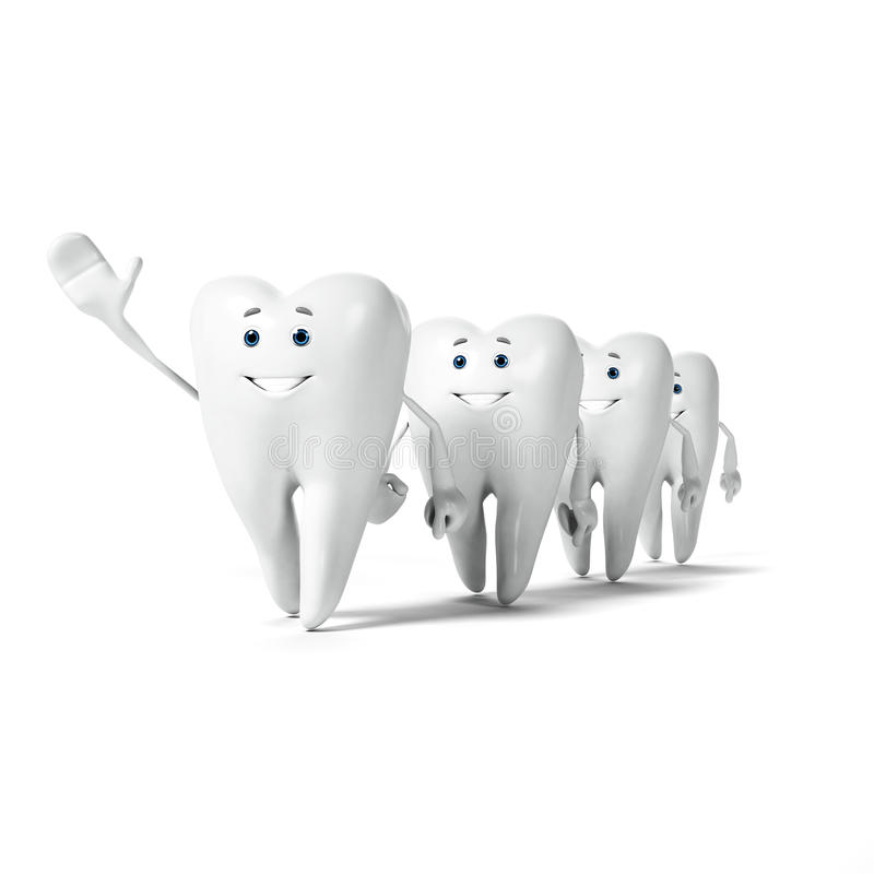 Download Zębu charakter ilustracji. Ilustracja złożonej z mądrość - 28962719