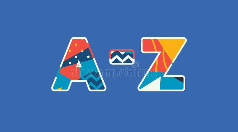 A-Z Concept Word Art Illustration vektor illustrationer