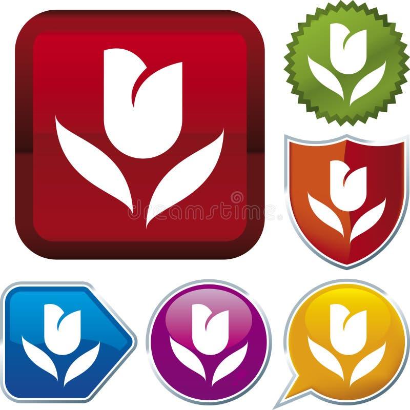 z cyklu ikony tulipanowe ilustracja wektor