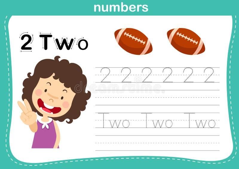 Z??czona kropka i printable liczby ?wiczymy dla preschool i dziecina dzieciak?w royalty ilustracja