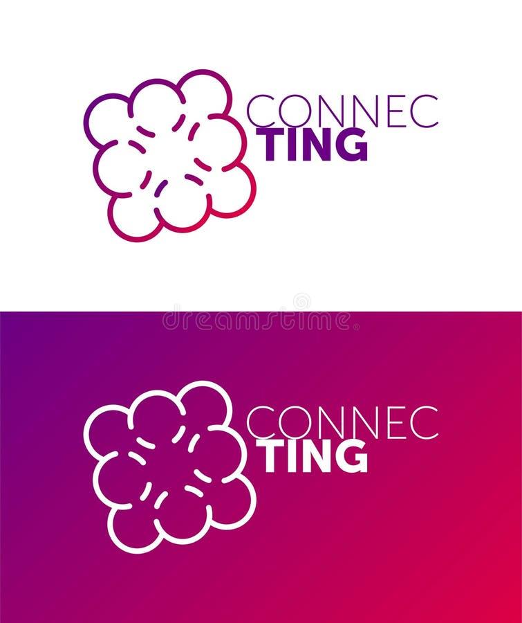 Z??czony logo okręgu wektoru przedmioty Kreskowy logo kolor łączy royalty ilustracja