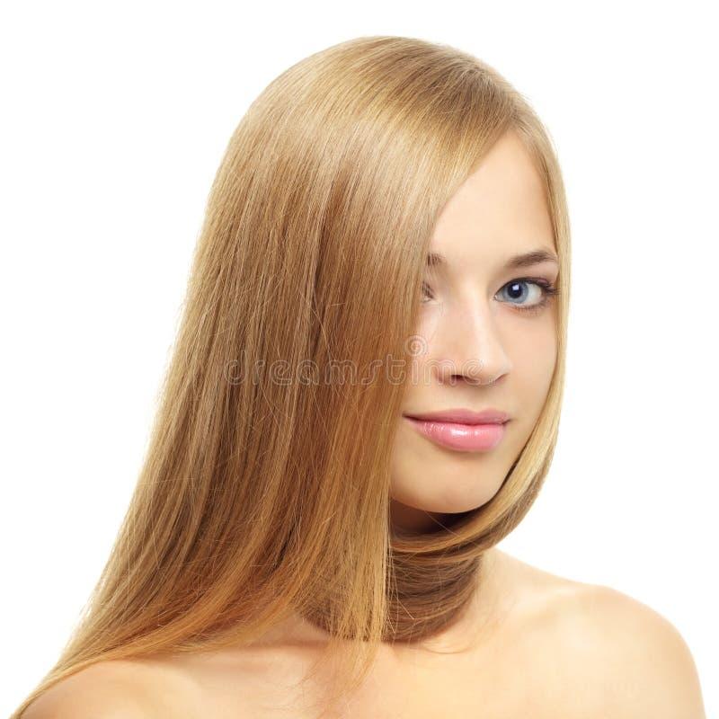Z długie włosy ładna dziewczyna zdjęcia stock