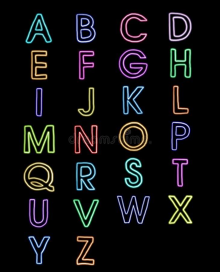 A-z De Lumière Laser De Fontes D Alphabet Photo libre de droits