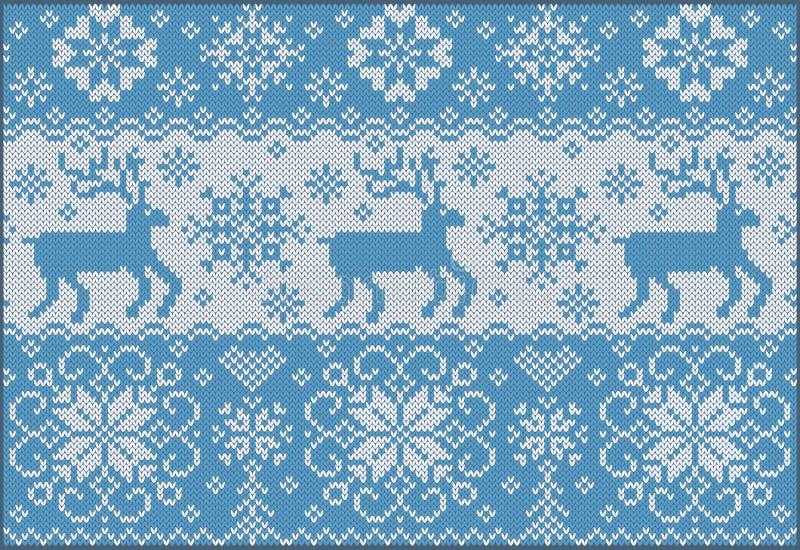 Z deers trykotowy ornament royalty ilustracja
