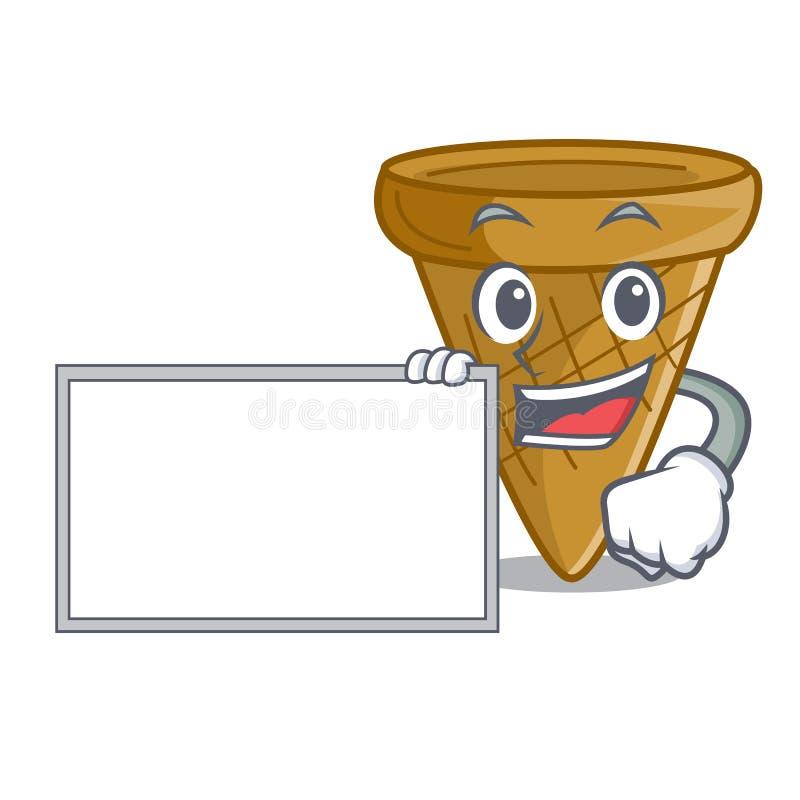 Z deskową opłatka rożka charakteru kreskówką ilustracji