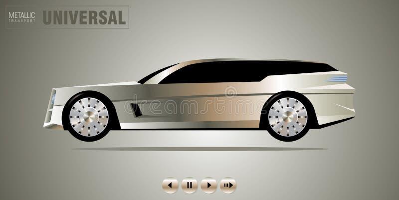 z drogi dżipa samochodowy luksus ilustracja wektor