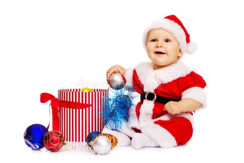 Z duży uśmiechem mały Święty Mikołaj obraz royalty free
