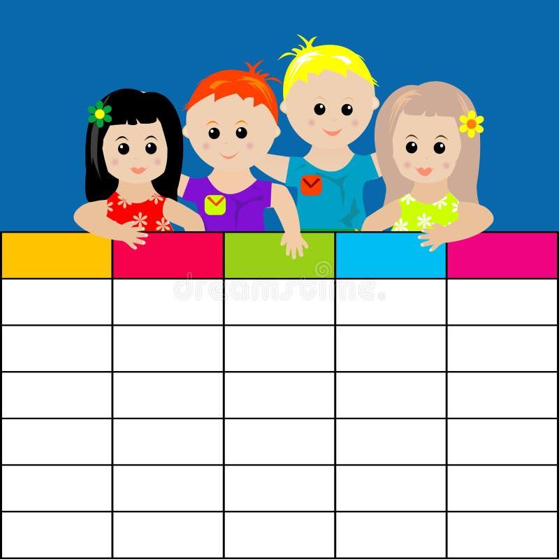 Z Dzieciakami szkolny Rozkład zajęć ilustracji