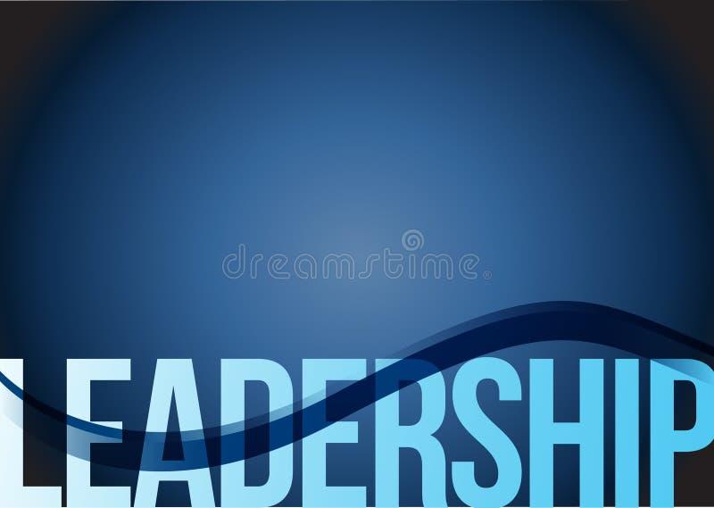 Z fala przywódctwo błękitny biznesowy tło royalty ilustracja