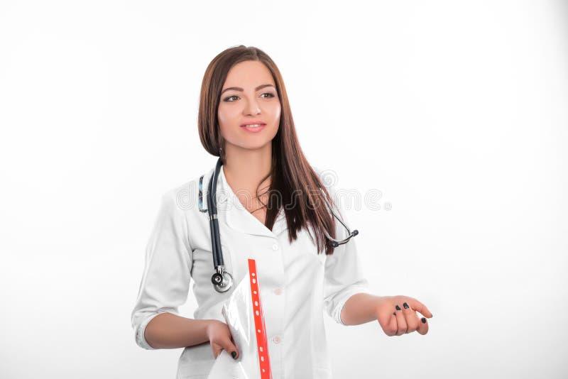 Z falcówką kobiety lekarka zdjęcie stock