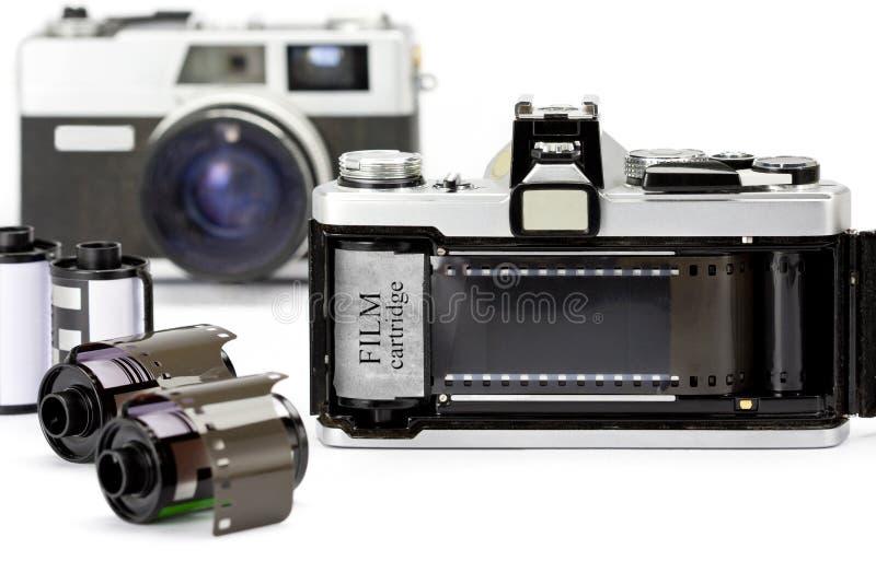 Z filmem 35mm kamera fotografia stock