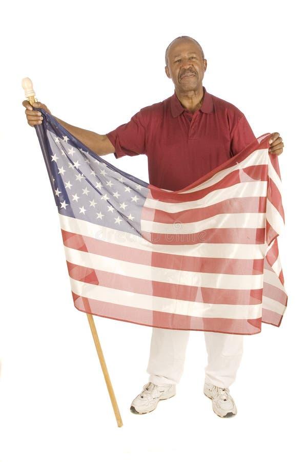 Z flaga Amerykanin afrykańskiego pochodzenia Patriota obrazy royalty free