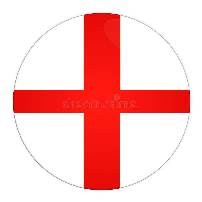 Z flaga Anglia guzik royalty ilustracja