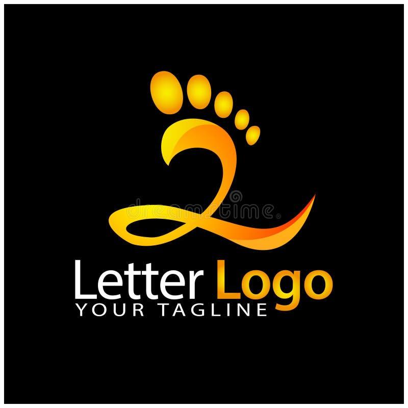 Z foot logo template, stock logo template royalty free illustration