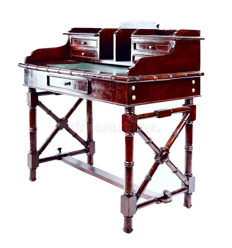 Z gabinetami antykwarski biurko obrazy stock