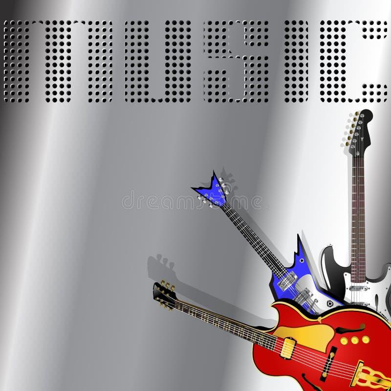 Z gitarą muzykalny tło zdjęcia royalty free