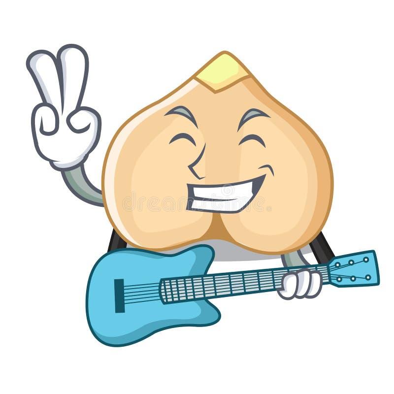 Z gitar chickpeas maskotki kreskówki stylem ilustracji