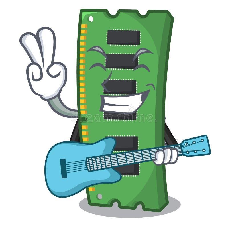 Z gitary RAM kartą pamięci w peceta charakterze ilustracji