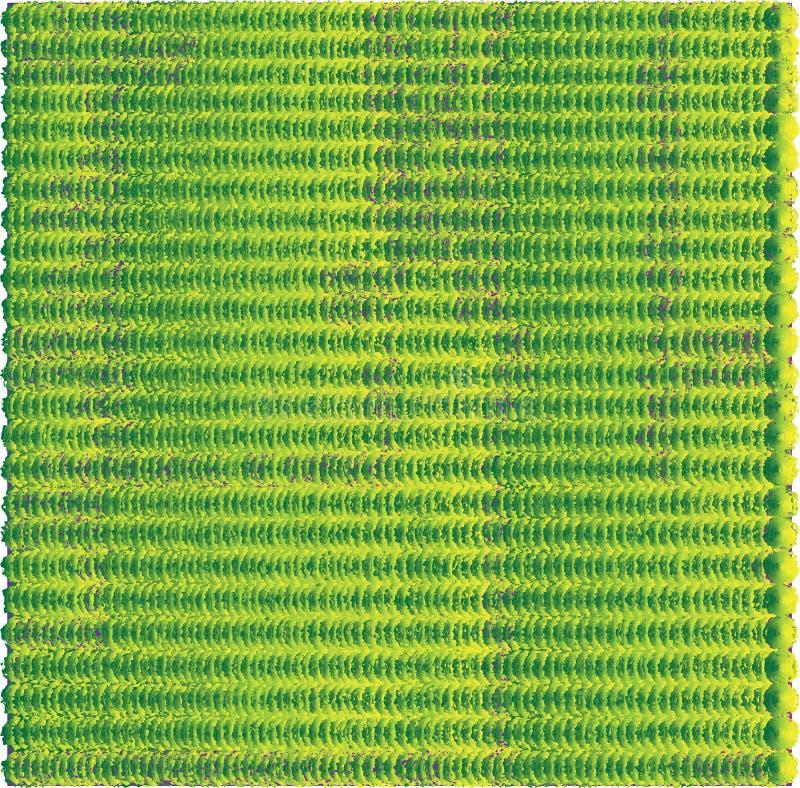 Z grubsza, puszysta zieleń i kolor żółty wiele piłki ilustracji