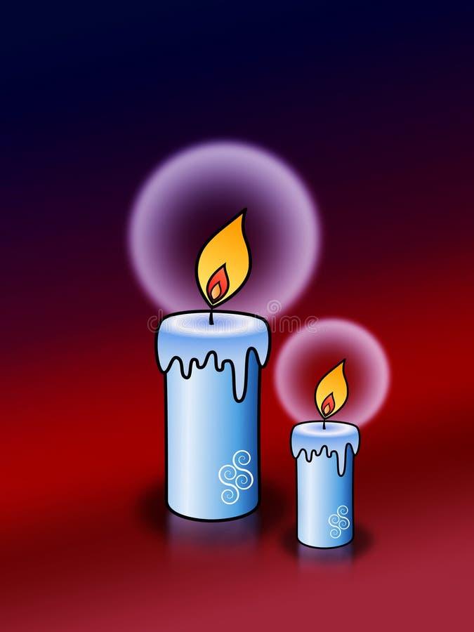 Z halos zaświecać świeczki royalty ilustracja