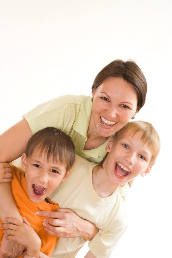Z jego synami macierzyści remisy fotografia stock