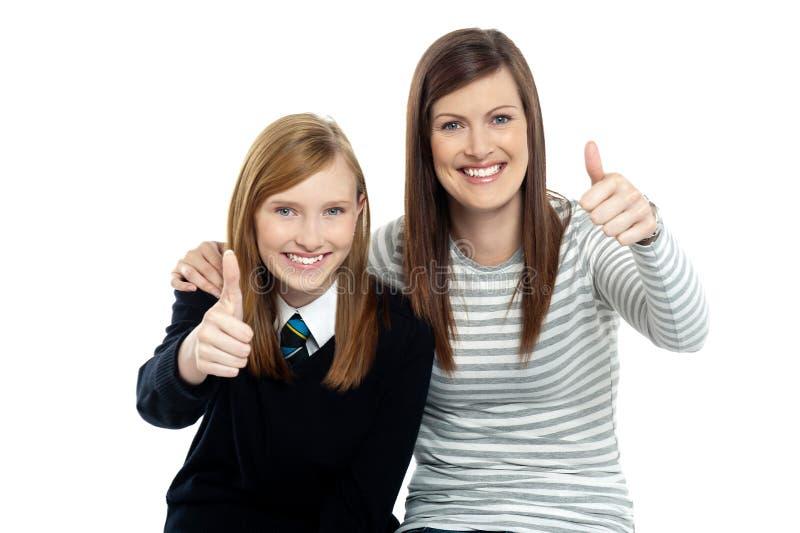 Z jej matką powabna córka fotografia royalty free