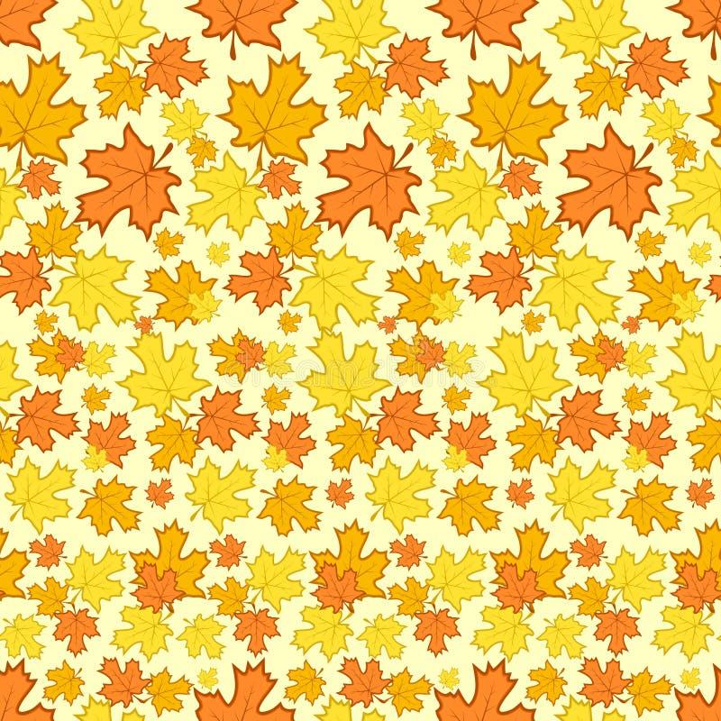 Z jesień kolorowymi liść bezszwowy wzór ilustracji