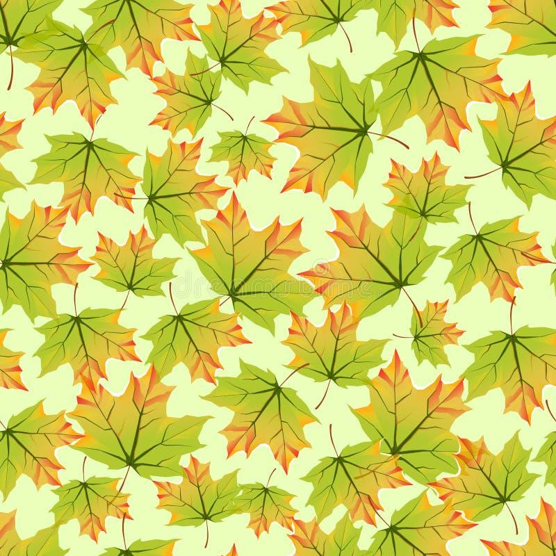 Z jesień kolorowymi liść bezszwowy wzór ilustracja wektor