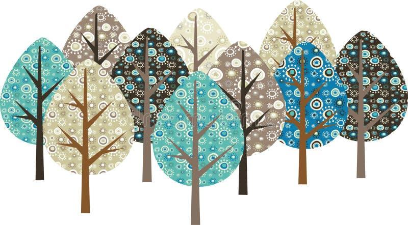 Z jesień tło drzewa ilustracja wektor